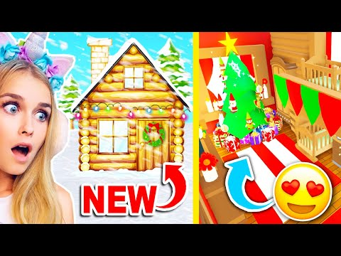 Decoration Our NEW CABIN During A SNOW STORM In Adopt Me Roblox