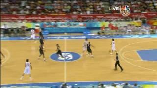 USA vs Spain Beijing 2008 - Gold Medal Game - 1st Half