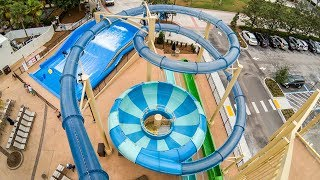BOWL WATERSLIDE with DROP START: Florida Free Fall at Cypress Springs Water Park