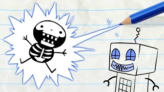 """A Shocking Surprise for Pencilmate! -in- """"Nuts and Bolts"""" Pencilmation Cartoons"""