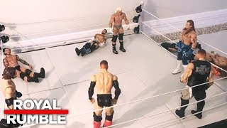 Royal Rumble Match: WWE Royal Rumble 2018: WWE Action Figure Stop Motion