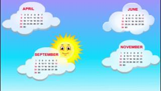 30 Days Has September--Nursery Rhymes--Kindergarten Songs--Bed Time Songs