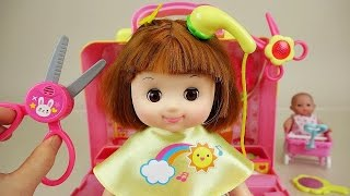 Baby Doll hair shop play set toys
