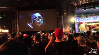 Live Star Wars Force Awakens Trailer Viewing at Downtown Disney - 4K