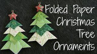 Folded Paper Christmas Tree Ornaments!! DIY Origami Ornament
