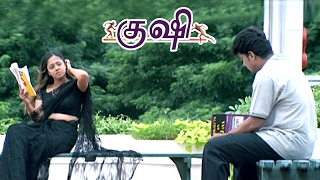 Kushi Movie Scenes | Vijay Stares at Jyothika's Navel | Jyothika and Vijay argue and part ways