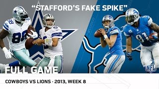 Stafford's Fake Spike & Calvin's 329-Yard Game | Cowboys vs. Lions (Week 8, 2013) | NFL Full Game