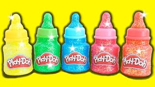 Learn Colors Play Doh Baby Bottles Surprise Toys Dory Paw Patrol My Little Pony * RainbowLearning