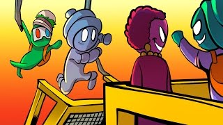 THE LEAP OF FAITH!! - Gang Beasts Funny Moments Gameplay