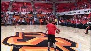 OSU Fan Makes Halfcourt Shot