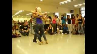 Sexy Blonde Dancing Kizomba