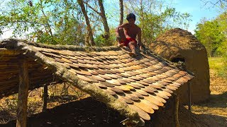 Secret Of Primitive: Update wooden house underground To Tiled Roof Hut