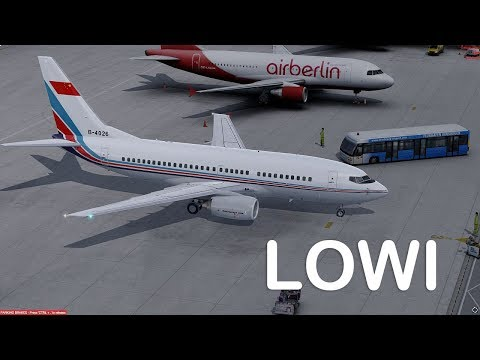 Download Prepar3D v4 - PMDG737-700 LOC approch LOWI rwy26 with soft cloud HD Mp4 3GP Video and MP3
