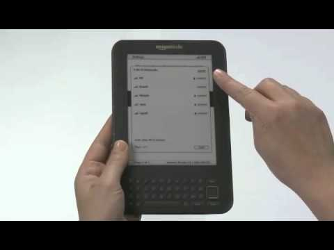 How to Connect Your Amazon Kindle 3   Kindle DX Wirelessly (Wi-Fi)