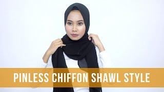 Hijab Tutorial: Pinless Chiffon Shawl Style | Ayu Apparels