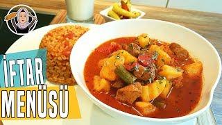 Etli Patates Yemeği Tarifi+Domatesli Bulgur Pilavı+Aksam yemegi önerisi-Hatice Mazi