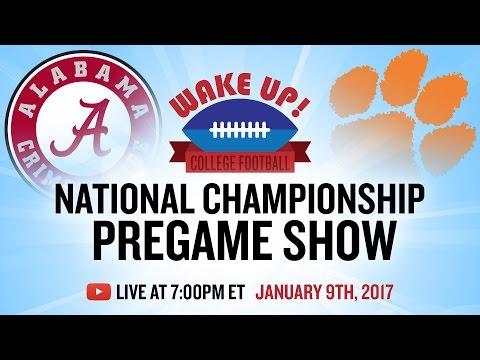 National Championship Pregame Show 2017 Alabama vs Clemson