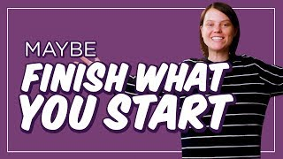 How to Actually Finish Something, for Once | CH Shorts