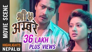 Saugat Malla & Keki Adhikari Love Making Scene | Nepali Movie SHREE 5 AMBARE
