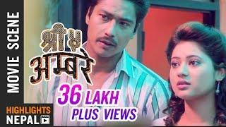 Saugat Malla & Keki Adhikari Love Making Scene | Nepali Movie SHREE 5 AMBARE