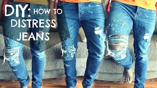 DIY How To: Distressed Jeans Tutorial - dyrandoms