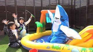 サメだ~!!! 助け鬼&鬼ごっこをして遊びました♫ こうくんねみちゃん