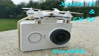 CX10 nano drone and gopro camera - Incredible very powerful mini drone - incroyable cx10c cx-10c
