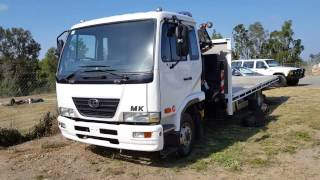 (SOLD) 2008 Nissan UD MK6 Turbo Diesel Crane Truck review