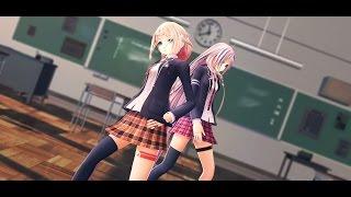 【MMD】Childish War - IA and ONE School Girls