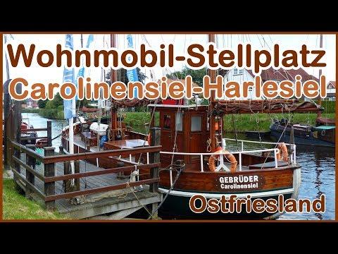 Ostfriesland Wohnmobil Stellplatz Carolinensiel Harlesiel. Kleiner Rundgang im Ort