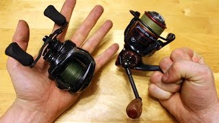 Baitcaster vs Spinning reel -How to pick your fishing reel!