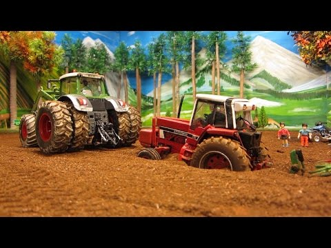 RC TRACTOR destroyed a pipeline & needs help - Rc toy action