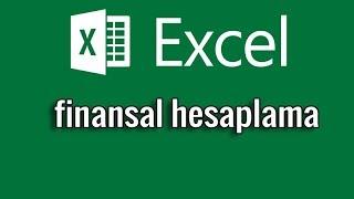 Ders03 - Excel Finansal Hesaplama örneği