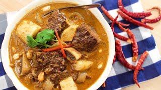 Beef Massaman Curry Recipe มัสมั่นเนื้อ - Hot Thai Kitchen!