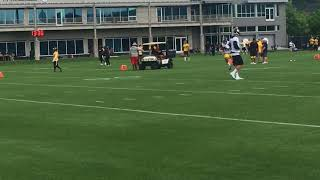 Steelers QBs practice without Ben Roethlisberger