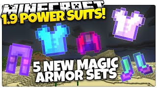 Minecraft 1.9 | MAGIC POWER SUITS | Jetpacks, X-Ray, & More Armor! (Minecraft Custom Command)
