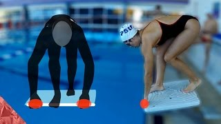 3 steps to learn a competitive start   dive (Freestyle, Butterfly and Breastroke   breast stroke)