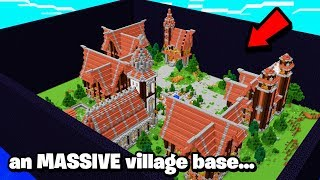 this rich Minecraft Faction 100% own a VILLAGE..and its 24/7 GUARDED! (wow)