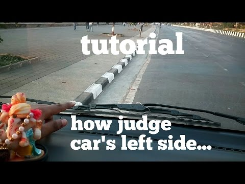 How judge car from left side|tutorial|learn car driving in Hindi for beginners|Learn to turn