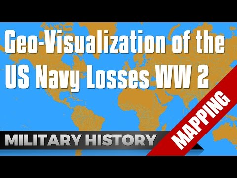 watch Visualization US Navy Losses in World War 2 #Mapping #GIS