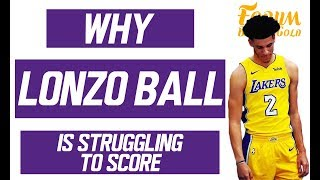 Why Lonzo Ball is Struggling to Score