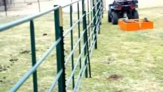 Super Scooper Quick and Easy Clean Up of Horse Manure - in Texas Paddock