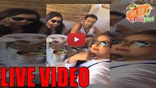 Anjana Singh, Nirahua, Amrpali Dubey Facebook Live Video  on set of Film Jigar | Spicy Bhojpuri