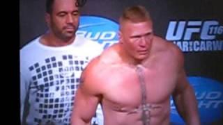 Brock Lesnar - vs - Shane Carwin weigh in, UFC - 116