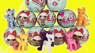 PONIES GET LOL SURPRISE DOLLS! Opening the Peeing Crying Dolls + GIVEAWAY!