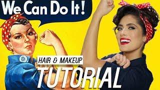 Rosie the Riveter Hair and Makeup Tutorial   Melissa Alatorre