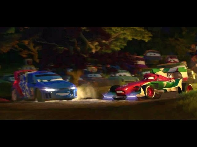 Cars 2 all WRC Car scenes in Movie Citroën C4