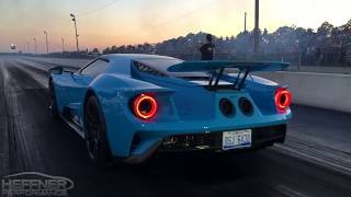 2017 Ford GT 1/4 Mile Testing with Heffner Performance Titanium Exhaust System
