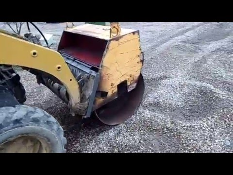 Skidsteer vibratory roller attachment home made