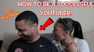 HOW TO BE:  SUCCESSFUL YOUTUBER ( SATIRE COMEDY SKIT BY ITSREAL85)